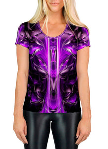 PURPLE ALIEN SCOOP NECK T-SHIRT