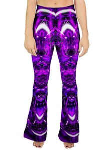 PURPLE PORTAL BELL LEGGINGS