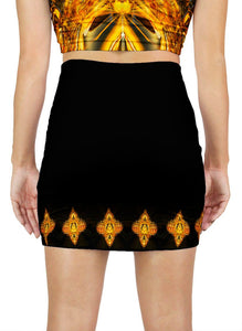 GOLDEN AMULET MINI SKIRT