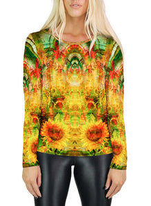 SUN HALLS WOMENS LONG SLEEVE T-SHIRT