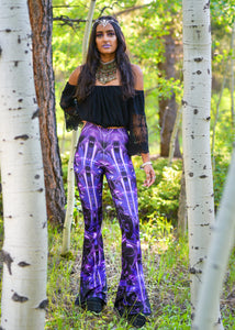 PURPLE ALIEN BELL LEGGINGS