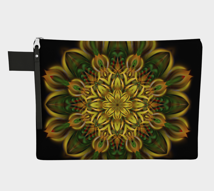 ALIEN SUNFLOWER ZIPPER POUCH
