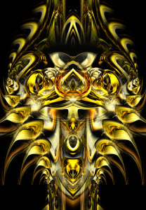 GOLDEN ALIEN PRINTS