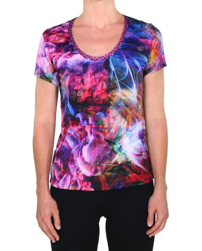 PSYCHEDELIC CIRCUS SCOOP NECK T-SHIRT