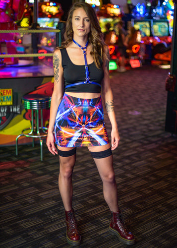 GALACTIC SPHINX MINI SKIRT