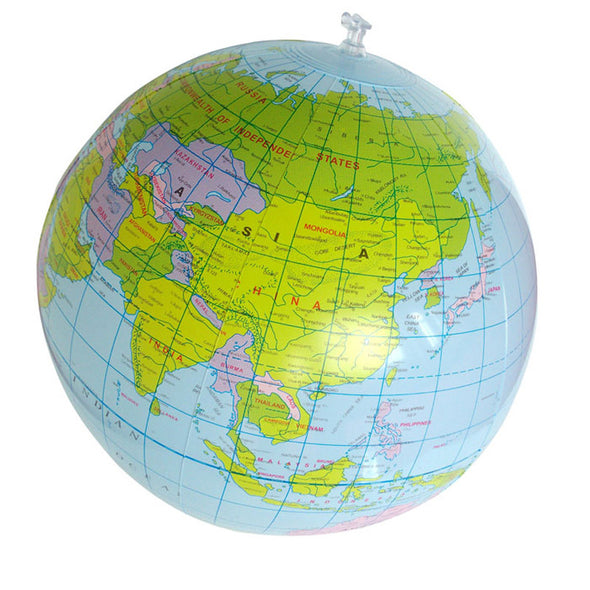 Geography Map Educational Beach Ball