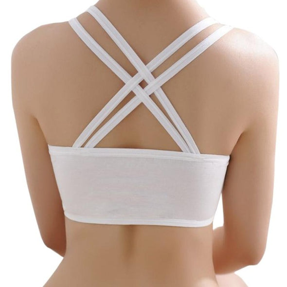 Womens Padded Fitness Crop Tops