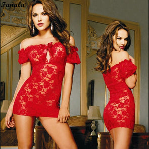 Short Sleeve Bodycon Mesh Sleepwear