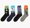 Hot Dropshipping Autumn winter Retro Women New Art Van Gogh Mural World Famous Oil Painting Series Men Socks Funny Socks