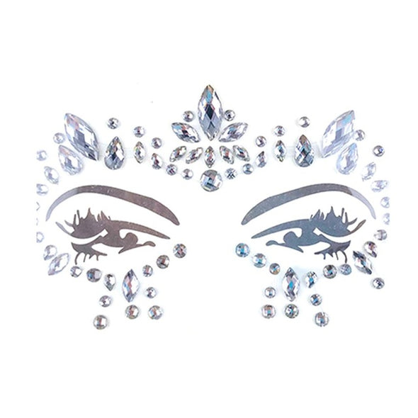 1PC Glitter Festival Party Face Stickers, Gems Rhinestone Body Tattoo DIY Acrylic Resin Stickers