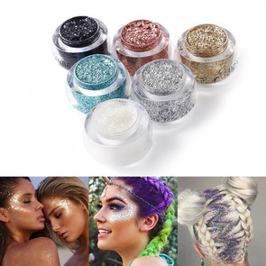 Face Body Glitter, Paste Cream Makeup Shimmer, Highlighter, Gel Hair Paint