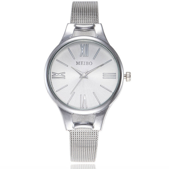 Stainless Steel Mesh Belt Wrist Watch