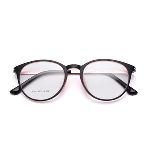Trendy Oval Optical Spectacles No Degree Eyeglasses