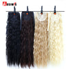 22 inch Long Wavy Ponytail For Women Black/Wine Red Hair Heat Resistant Synthetic Fake Hair Pieces