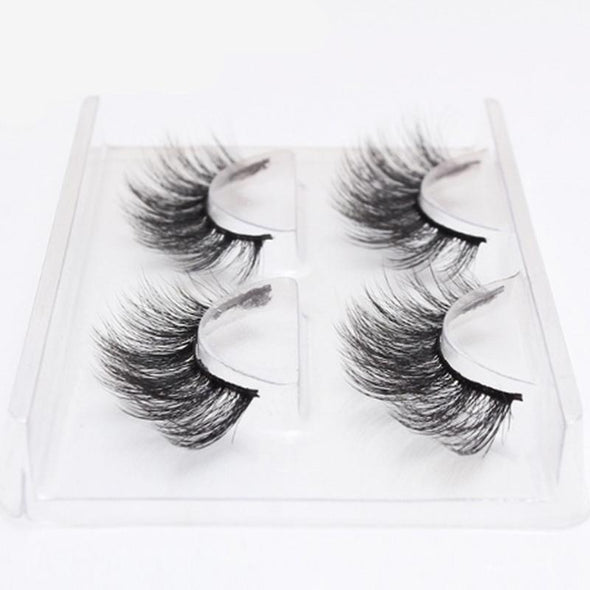 2 pairs natural false eyelashes