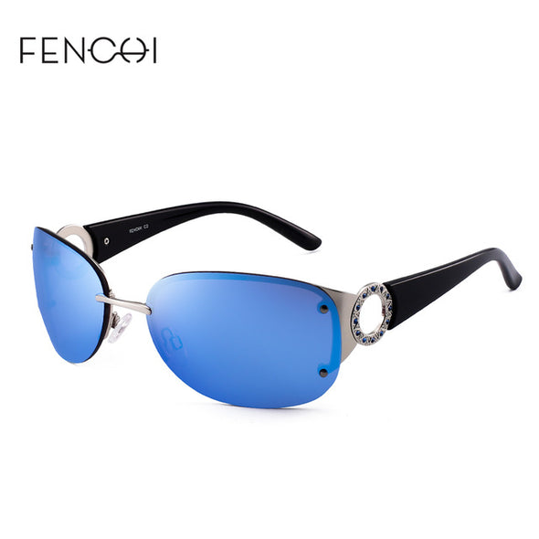 UV400 Rimless Sunglasses for Women