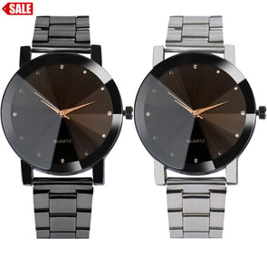 Stainless Steel Analog Quartz Watches for Women & Men