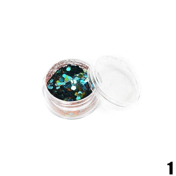 15 Colors Mix Glitter Dust Sequins Powder for Body Decoration