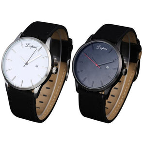 Leather Quartz Watches for Men