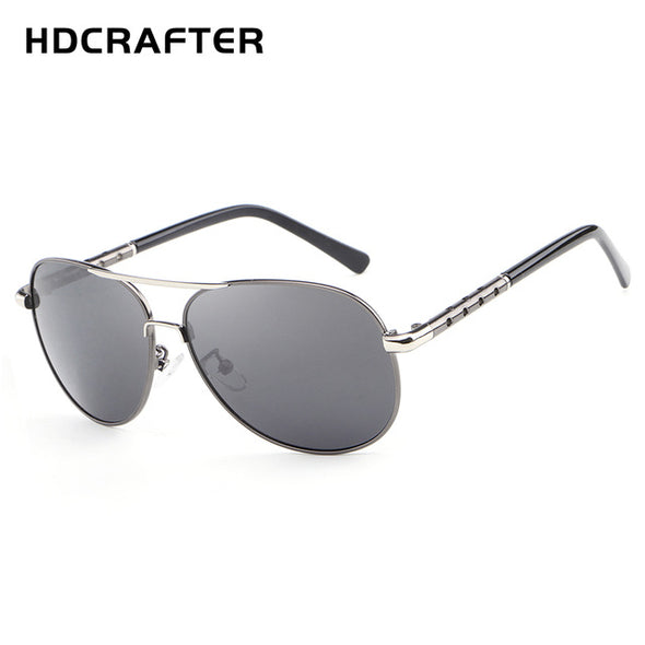 HDCRAFTER classic mens sunglasses men retro vintage polarized pilot sunglasses men polarized uv400 high quality driving glasses