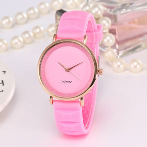 Casual Silicone Strap Analog Quartz Watch