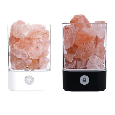 Crystal Light natural himalayan salt lamp