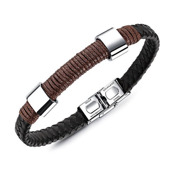 Braided Rope Leather Bracelets