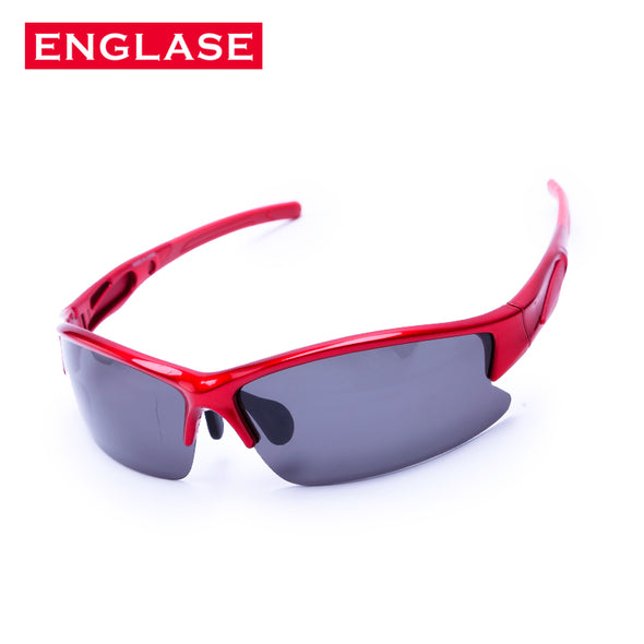 ENGLASE Men's Glasses UV400 Semi Rimless Glasses Coated Men's Sunglasses Men Gray lens Outdoor Sports Glasses Fishing Glasses