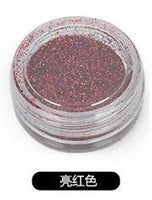 12 Colors of Glitter Makeup Pigment Powder Decoration for Eyes, Hair, Body & Nail Art Shimmer