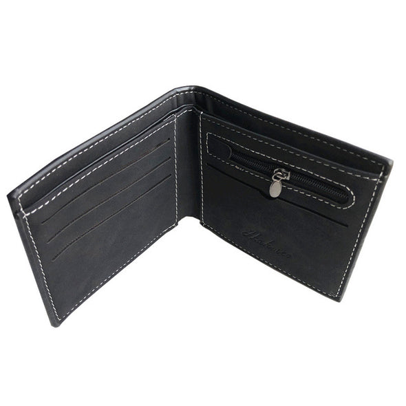 HOT High quality men's PU leather Wallet With coin bag male purse clutch card holder men cheap short Wallets