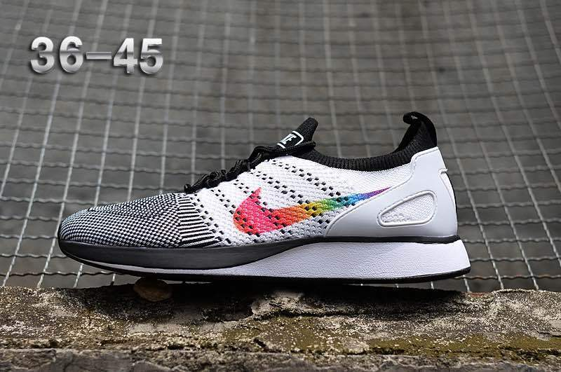 Nike Air Zoom Mariah Flyknit Racer - Blanco Negro Multi Color