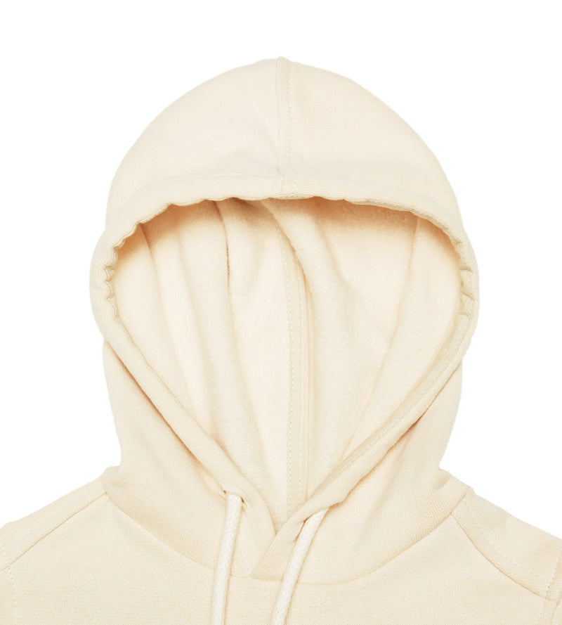 Organic cotton cream colour hoodie