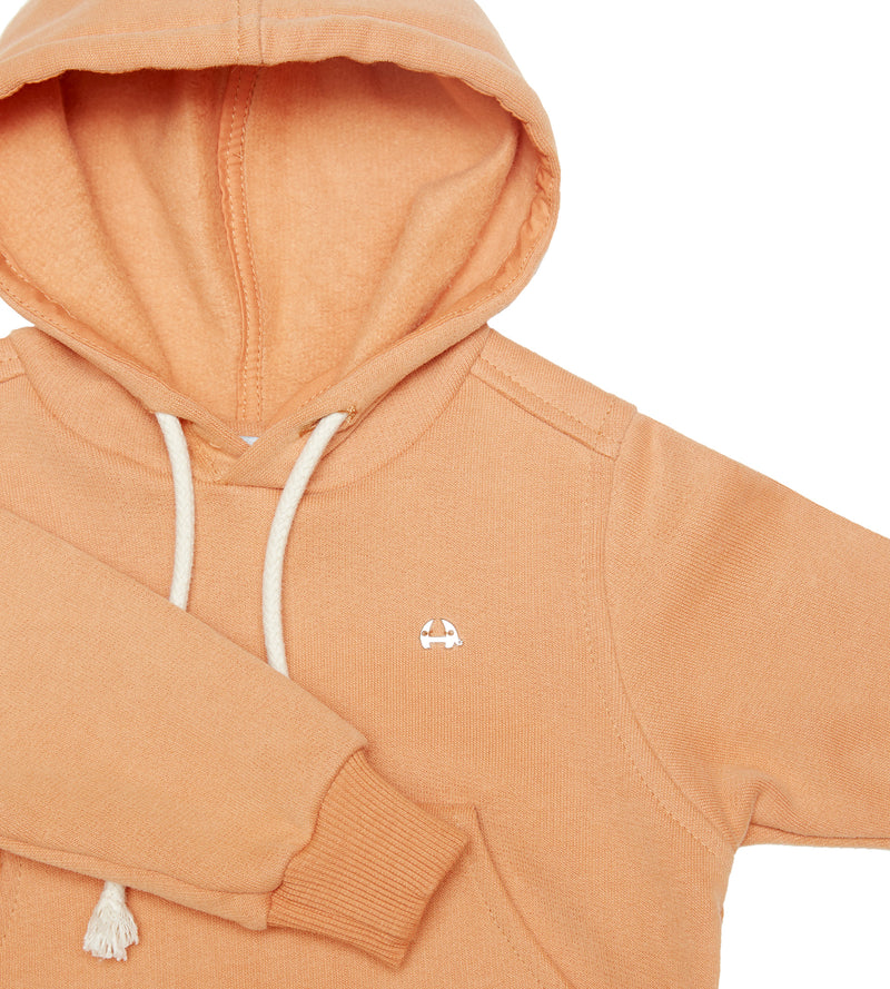 Organic cotton Peach colour hoodie