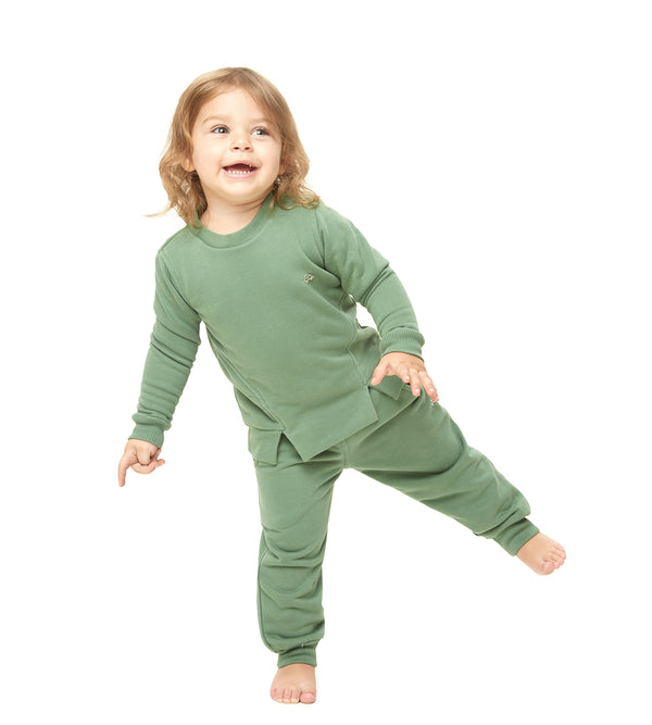 Khaki organic cotton  set