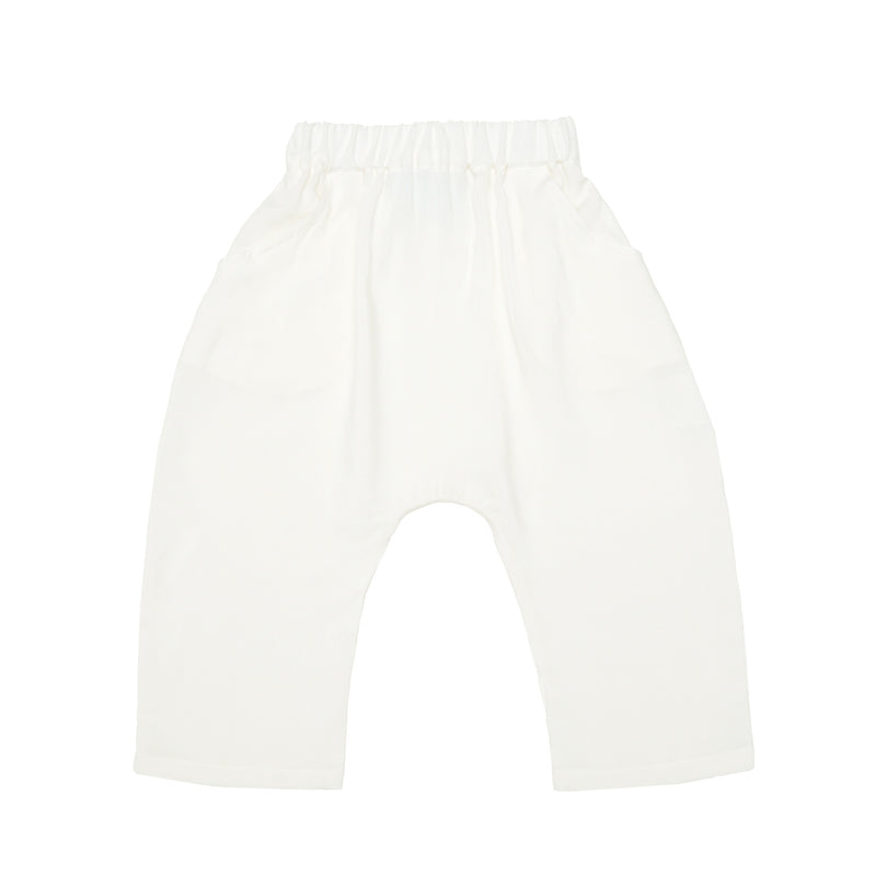 Organic Cotton Trousers - White