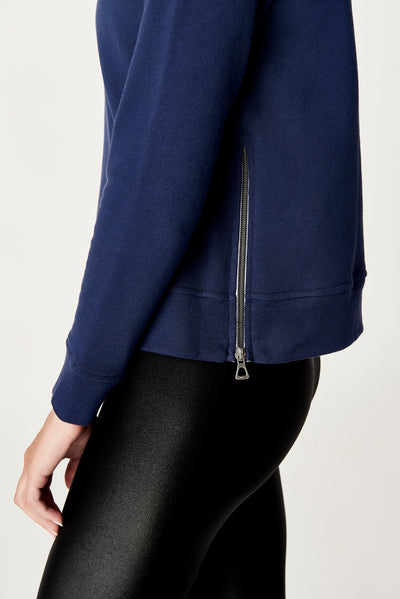 Off Duty Side-Zip Sweatshirt, Final Sale