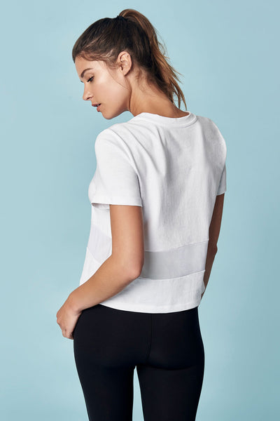 All Hours Paneled Crop Tee, Final Sale