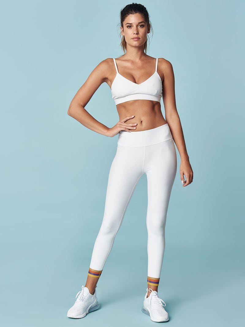 ENSMBL Bottoms Band + Gather Optic Legging White / XS / ENSP6371A