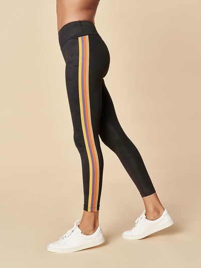 ENSMBL Bottoms Band + Gather Stripe Legging Black-Camo / XS / ENSP6370