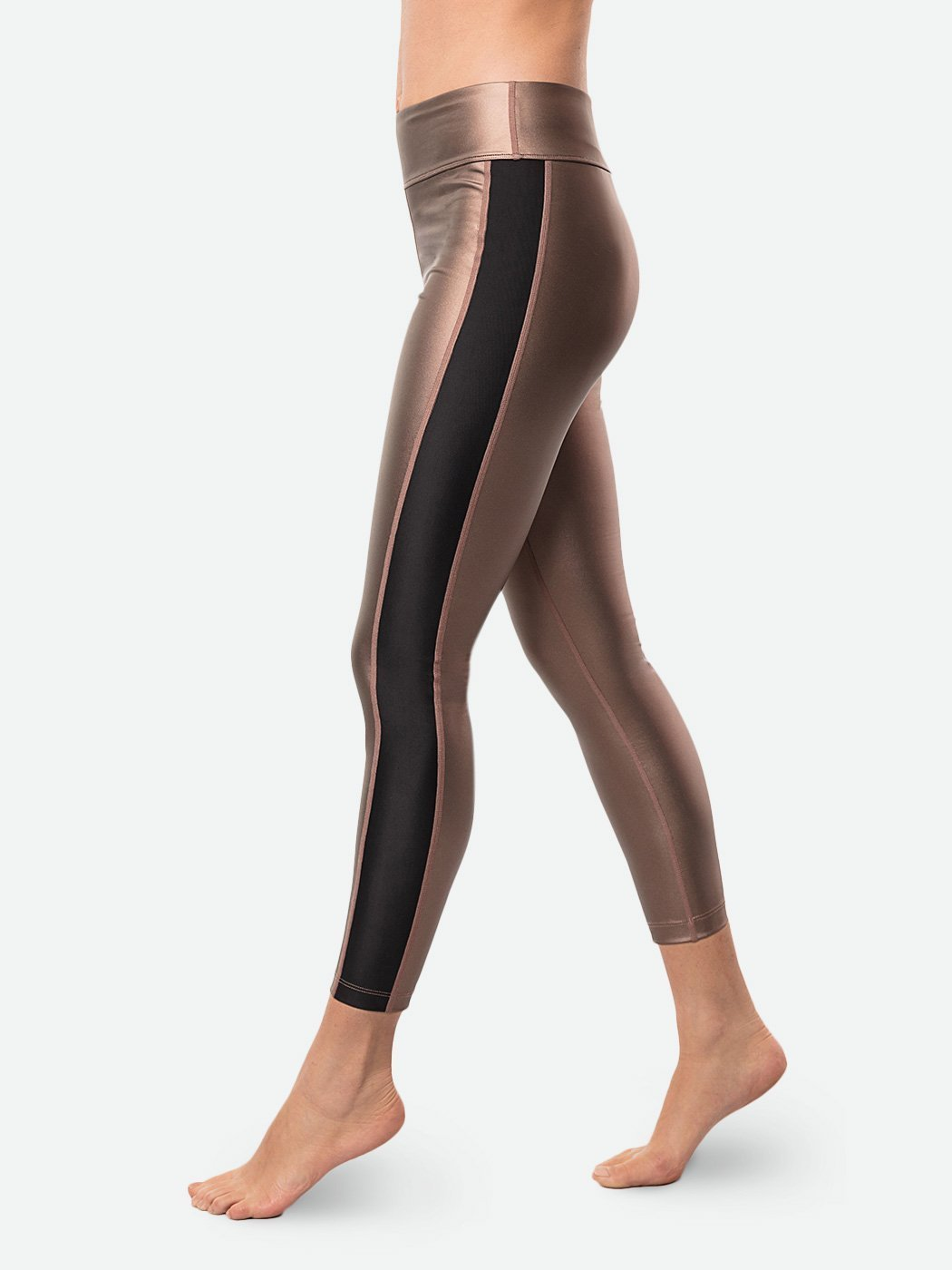 ENSMBL Bottoms Bronze Sol Tuxedo Legging Copper-Black / XS / ENSP6384