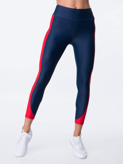 ENSMBL Bottoms Ines High Waisted Legging Navy / XS / ENSP6406