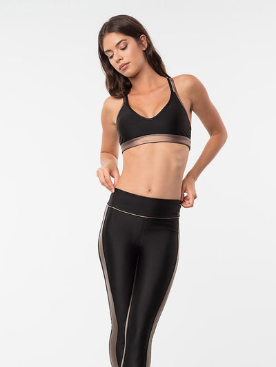 ENSMBL Bottoms Obsidian Tuxedo Legging Black-Copper / XS / ENSP6385