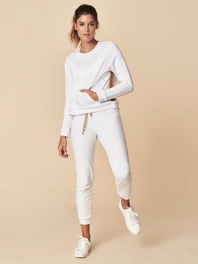 ENSMBL Bottoms Off Duty Slim Jogger, White White / XS / ENSP6374
