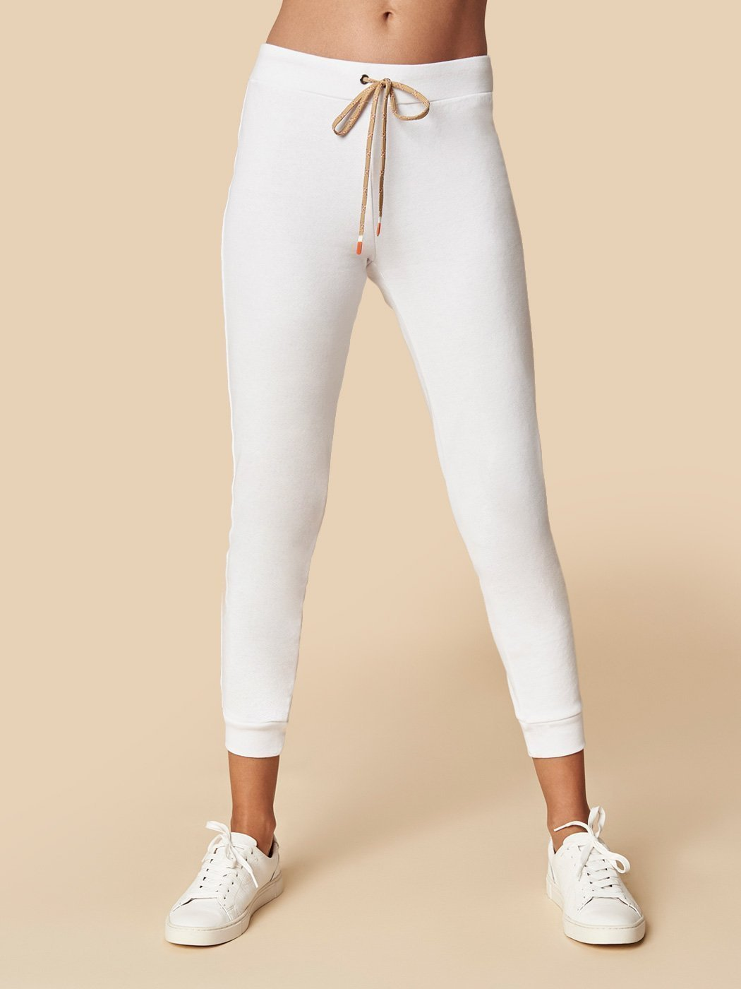 Off Duty Slim Jogger White, Final Sale