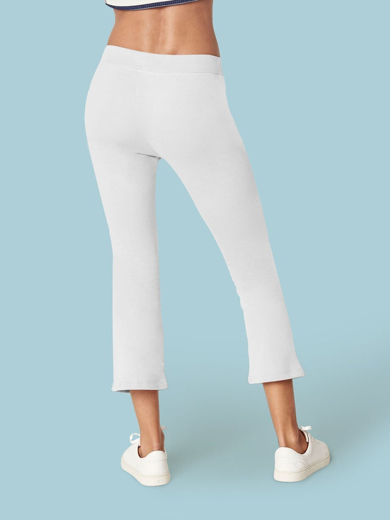 Off Duty Wide Leg Pant White, Final Sale