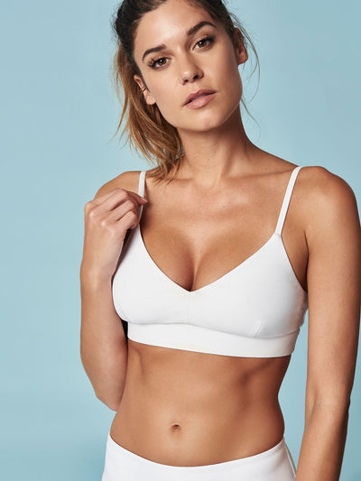 ENSMBL Bras Lead + Follow Crossback Bra White / XS / ENST50015