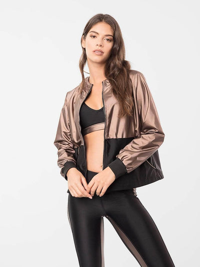 ENSMBL Jackets Bronze Sol Hi-Low Jacket Copper-Black / XS / ENSJ7858A