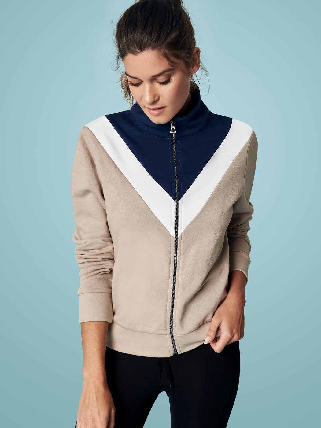 Off Duty Chevron Jacket, Final Sale