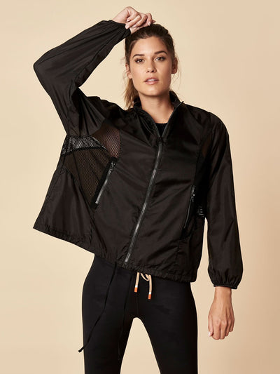 ENSMBL Jackets Over + Out Windbreaker, Black Black / XS / ENSJ7811