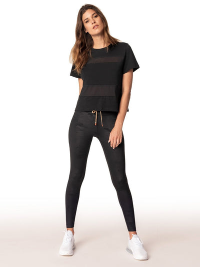 ENSMBL Tops All Hours Paneled Crop Tee, Black Black / XS / ENST50031